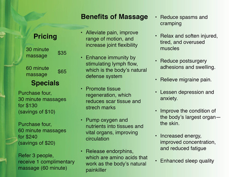 Massage Therapy Brochure Witty Design Whitney A Gifford